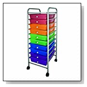 Color Plastic Storage Drawers On Wheels