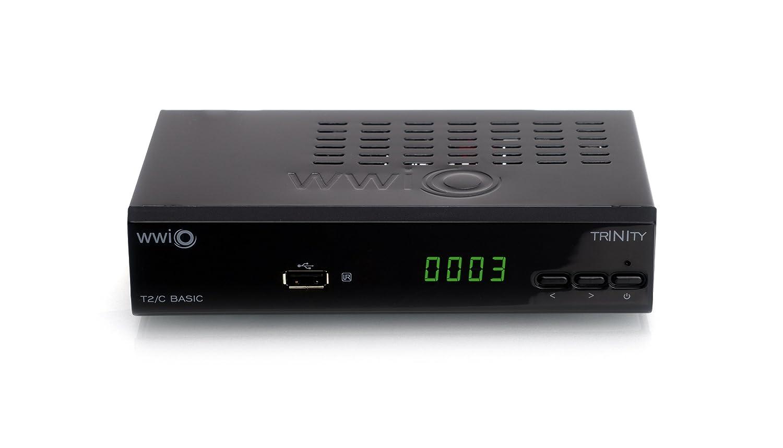 HD Kabelreceiver, HD DVB-T2 Receiver, EPG, Mediaplayer WWIO TRINITY T2//C BASIC