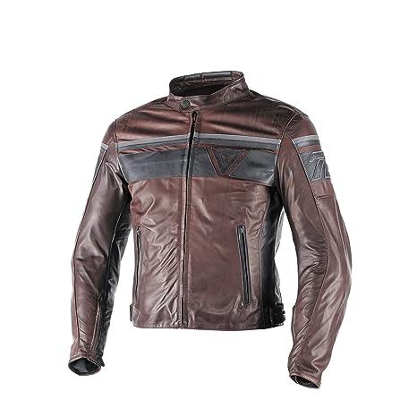 nuovo concetto dd66c ad6de Dainese-BLACKJACK Giacca da moto in pelle, Marrone Scuro/Nero/Nero, Taglia  48