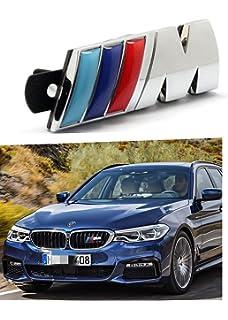 M Front Grille Emblem 3D Metal Car Front Grille Chrome Badge Fashion Logo for M3 M5 X1 X3 X5 X6 E36 E39 E46 E30 E60 E92,1