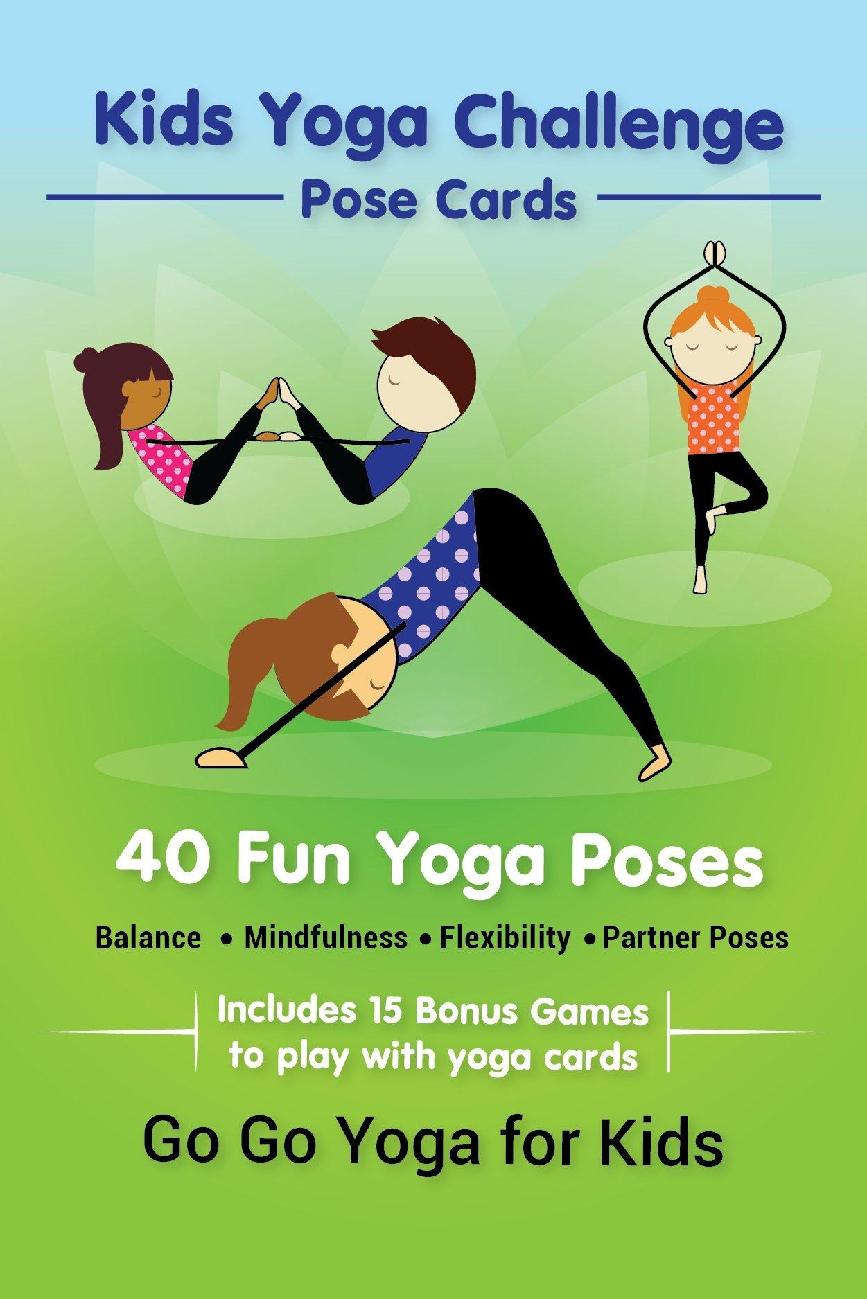 Kids Yoga Challenge Pose Cards Sara J Weis 9780998213194 Amazon Books