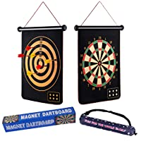 Deals on Casaon Magnetic Dart Board Game with 6 Magnetic Darts