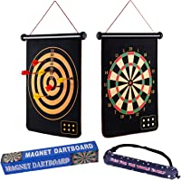 Casaon Magnetic Dart Board Game with 6 Magnetic Darts