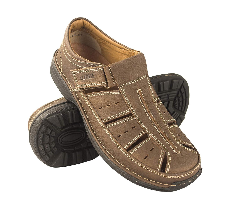 9777f919 Zerimar Sandalias Hombre   Sandalias Trekking Hombre   Sandalias Hombre  Senderismo   Sandalias Hombre Cuero   Sandalias Hombre Verano  : Amazon.es:  Zapatos ...
