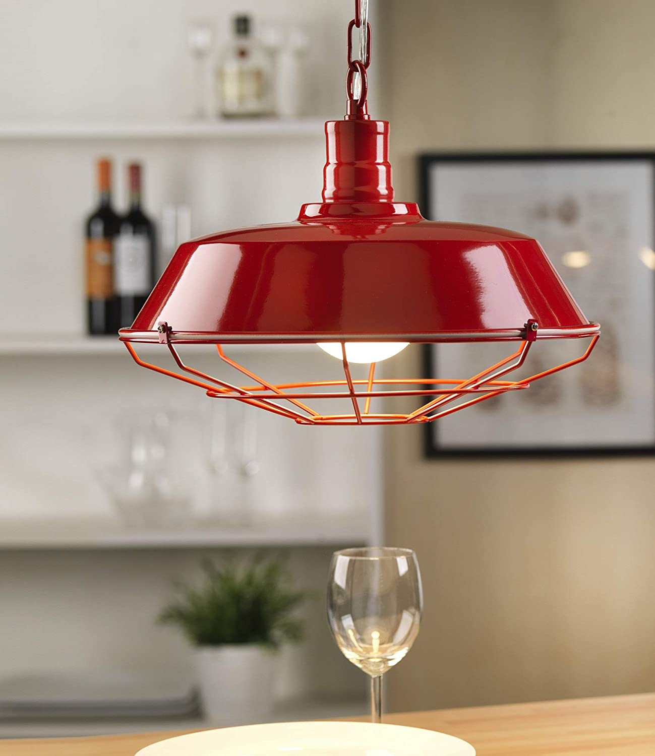 Dafnedesign.com - Ceiling lamp with Grid - Compatible with Class Bulb; A, A+, A++ - (UL)