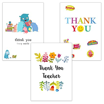 Profesor Tarjetas de agradecimiento - Pack de 6: Amazon.es ...