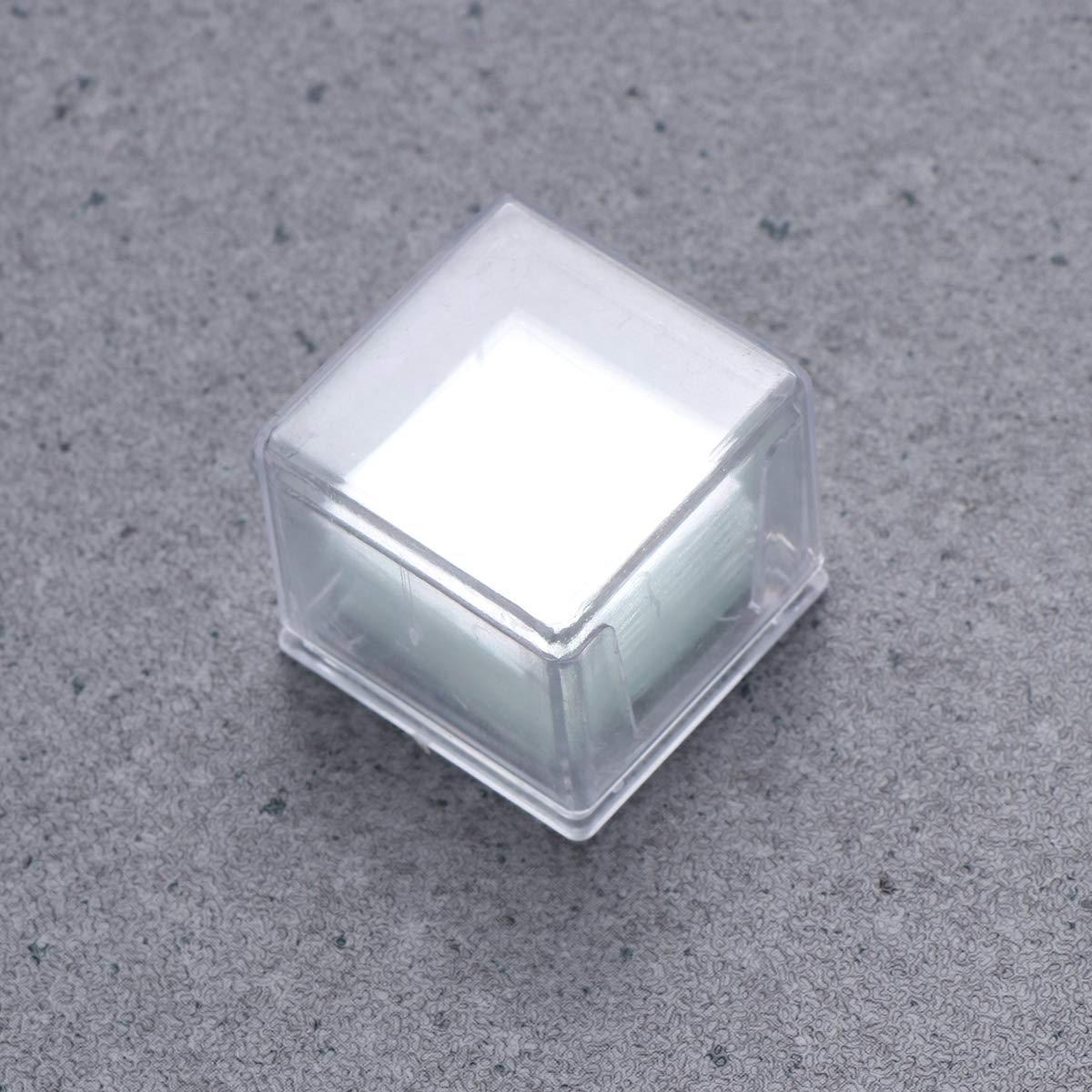 Hemobllo 100 PCS Vidrio en Blanco de la Cubierta Cuadrada del microscopio para el microscopio /óptico