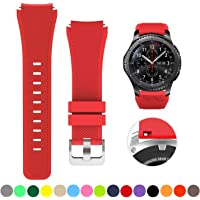 SAPU Bands for Samsung Gear S3 Frontier/Classic Watch Silicone Bracelet, Sports Silicone Band Strap Replacement…