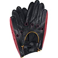 Fioretto Original Design Mens Driving Motorcycle Gloves Touchscreen Genuine Leather Gloves Unlined For Men