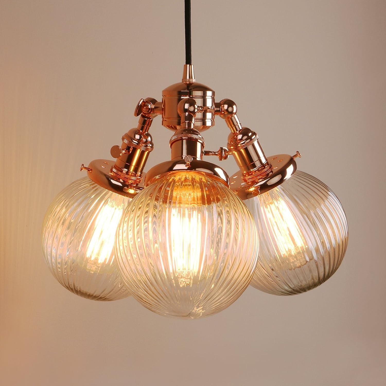 Pathson Industrial Modern Vintage Loft Bar 3 Lights Pendant Ceiling