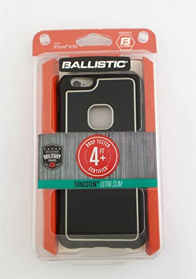 buy popular a1284 5461e Amazon.com: Ballistic Tungsten Ultra Slim Case for Apple iPhone 6/6s ...