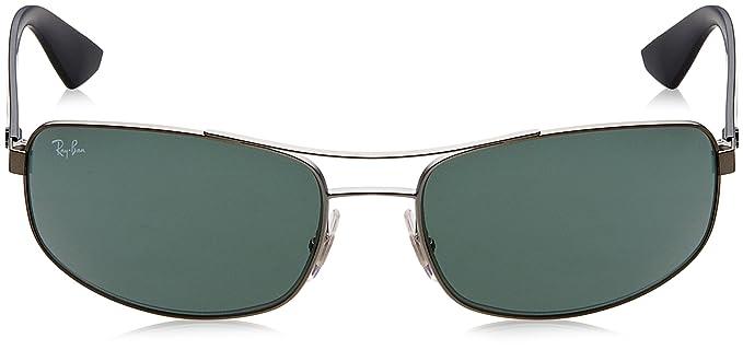 fa4718e5ff2 Amazon.com  Ray-Ban METAL MAN SUNGLASS - MATTE BLACK Frame GREY GREEN  Lenses 61mm Non-Polarized  Clothing