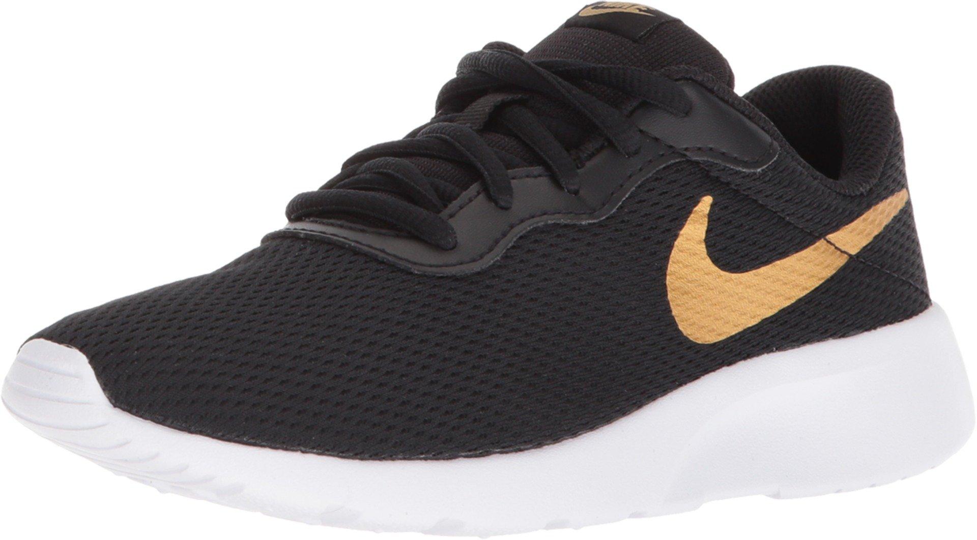 Nike Boy's Tanjun (PS) Running Shoes (1 M US Little Kid, Black/MetallicGold/White)