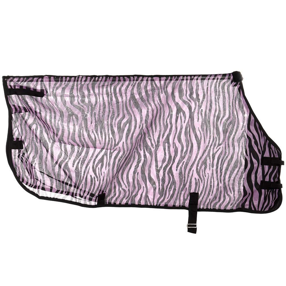 Tough-1 Zebra Mesh Fly Sheet 72 Purple Zebra