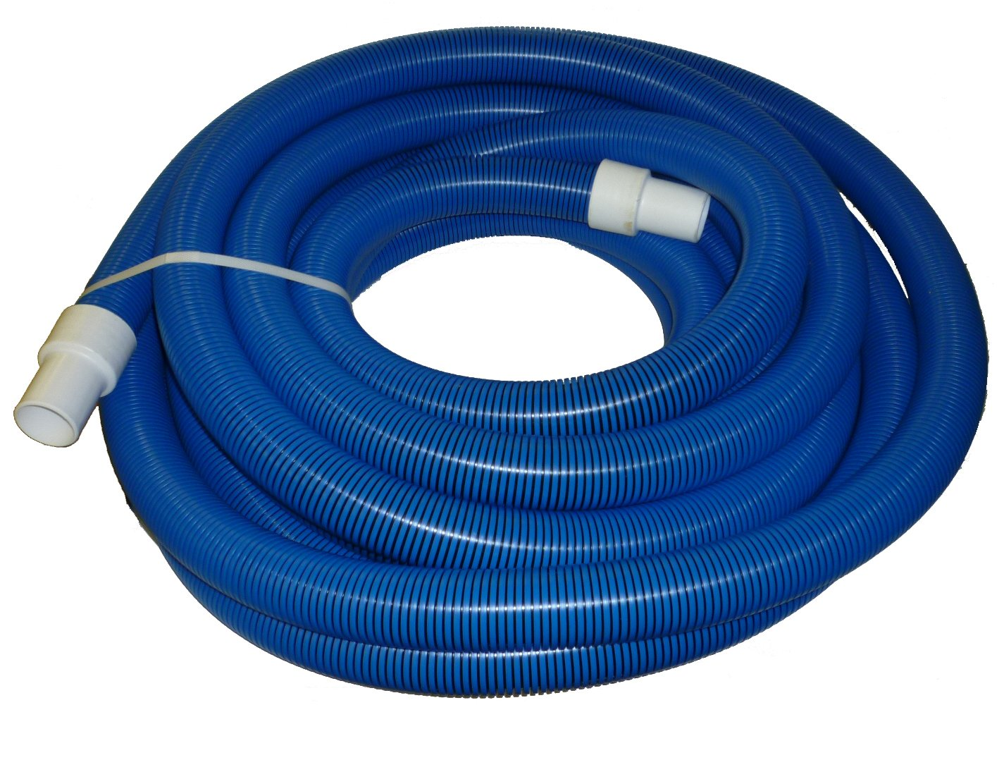 2'' x 50' Blue/Black I-Helix Commercial TM Vacuum Hose with White Cuffs