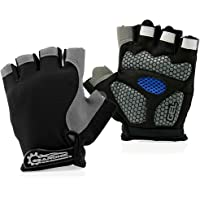 GEARONIC TM Cycling Half Finger Glove Mountain Bicycle Men Gloves Women Gel Pad Anti-Slip Breathable Outdoor Sports…