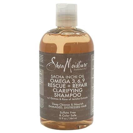 SHEA MOISTURE - Aceite de Sacha Inchi - Omega 3, 6 y 9 Champú Reparador
