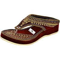 Thari Choice Woman and Girls Ethnic Fashion Sandal Slipper (Pack of 3)
