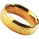 「silverKYASYA」ロードオブザリング ホビット The One Ring ゴールドコーティング メンズ リング 思いがけない冒険 リング プレゼント