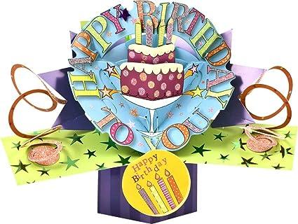 Second Nature - Tarjeta de felicitación para cumpleaños, diseño en 3D con zapato