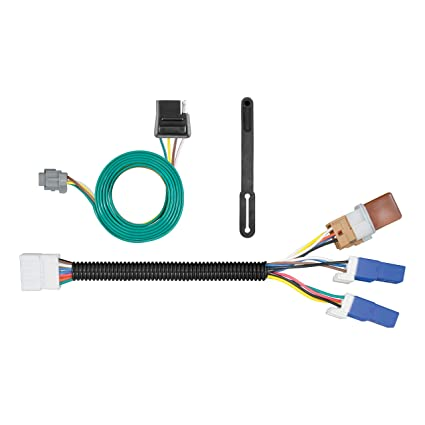 amazon com: curt 56281 vehicle-side custom 4-pin trailer wiring harness for  for select nissan pathfinder, infiniti qx60: automotive