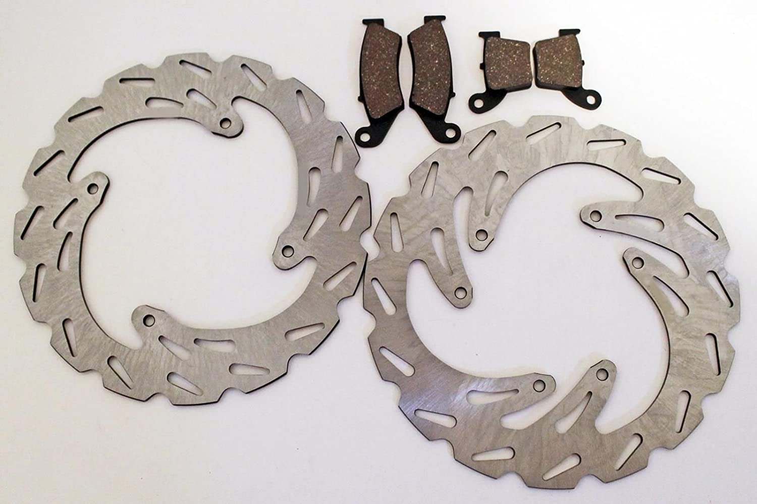 Fits Honda CR125R and CR250R Front and Rear Brake Pads and Sport Brake Rotors