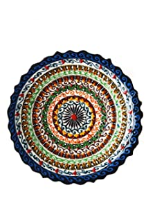 Ayennur Turkish Decorative Plate Handmade Ceramic Ornament for Home&Office Wall Decor