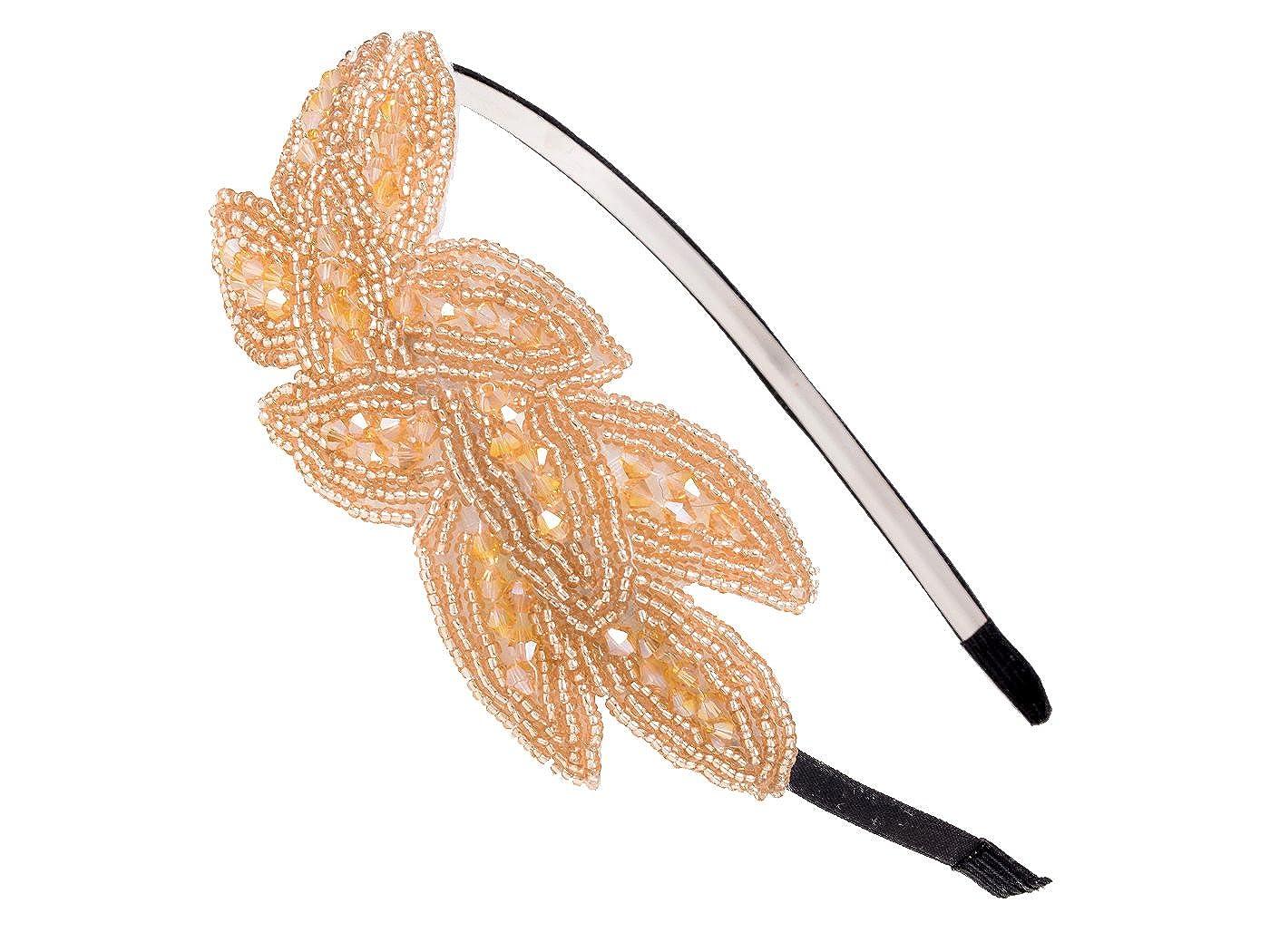 Alilang Vintage 1920s Floral Leaf Flapper Headband H0024