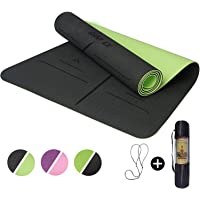 """ShapEx Large Yoga Mat (72""""x26.5""""Inch) Thick Yoga Mat ¼ Inch Thickness Non Slip,Anti-Tear,Sweat-Proof,Eco Friendly…"""