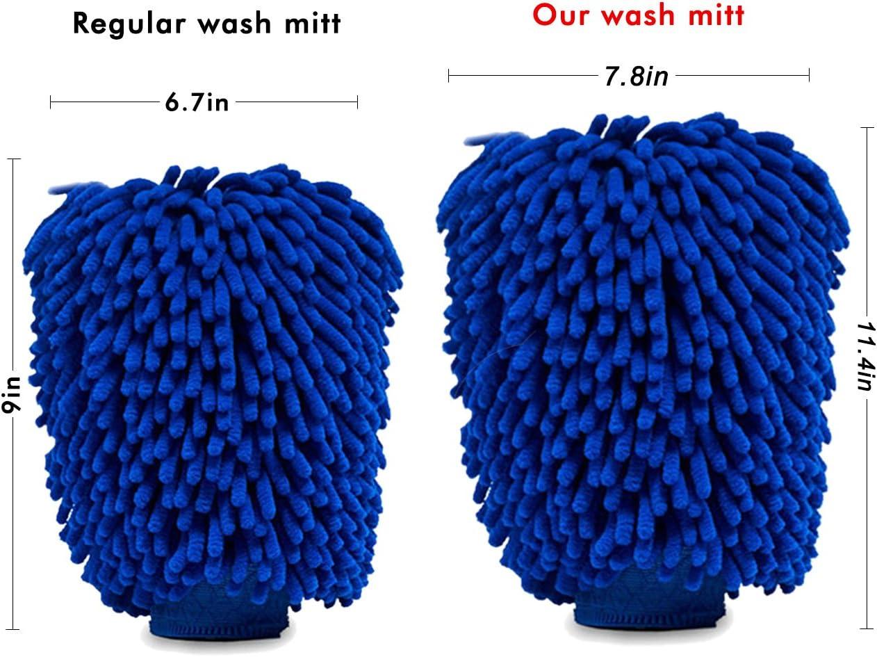 Lint Free 4 Pack Soft Car Wash Glove Scratch Free BloomSesame Car Wash Mitt