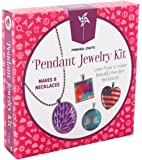 Girls Jewelry Making Necklace Kit: Pinwheel Crafts DIY Custom Glass Pendant Necklace Accessory Set for Kids or Teens to Make 8 Necklaces with Step-by-Step Instructions and Craft Supplies