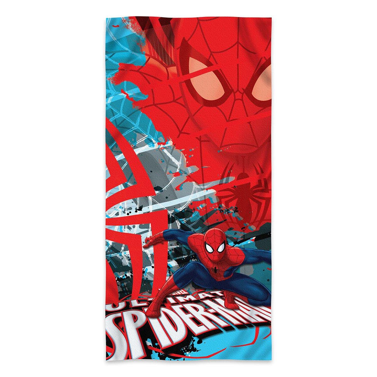 S.L Home Designs Disney Marvel Comics Ultimate Spiderman Super Spy Fiber Reactive Cotton Beach Towel 30x60 Inches