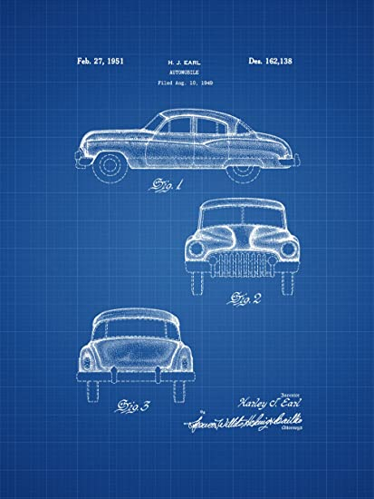 Amazon framable patent art the original ready to frame dcor framable patent art the original ready to frame dcor 1949 buick vintage classic car 8in by malvernweather Gallery