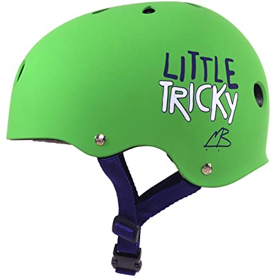 Triple Eight Little Tricky Dual Certified Sweatsaver Kids Skateboard and Bike Helmet, Green Rubber: Sports & Outdoors