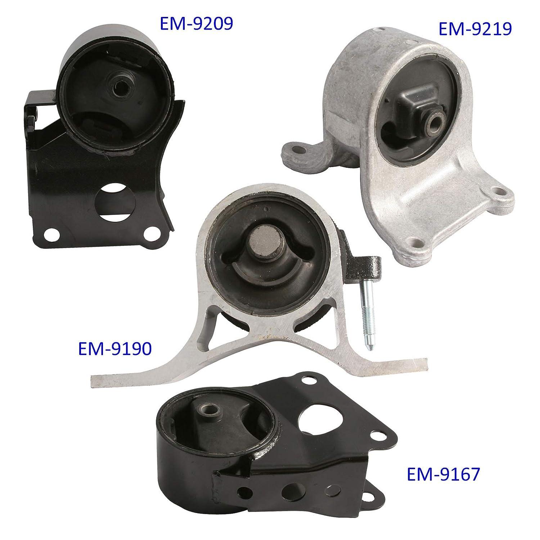 4pc Motor Mounts Set Kit for 02-06 Nissan Altima 2.5L 4Cylinder Automatic or Manual Transmission Engine Mounts