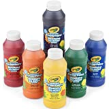 Crayola 6 Count 8 oz. Washable Kids Fingerpaints, Paint Supplies for Kids,3 Bold Primary & 3 Bright Secondary colors