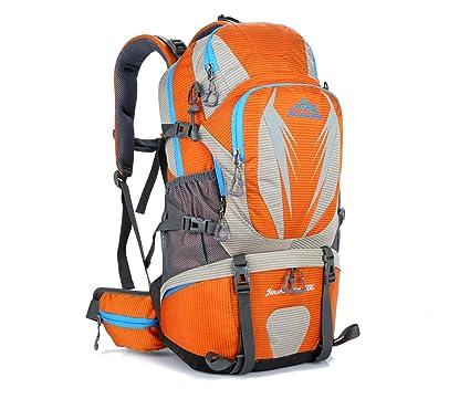 Ligero senderismo mochila 50L impermeable montañismo mochila senderismo viajar montar mochila multifunción deportes al aire libre Pack Bolsa H55 x L32 x T18 cm Acampada y senderismo