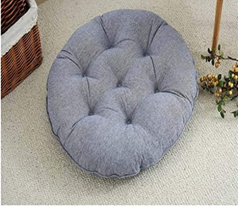 Amazon.com : Cotton Gray Big Round Seat Cushions Futon Yoga ...
