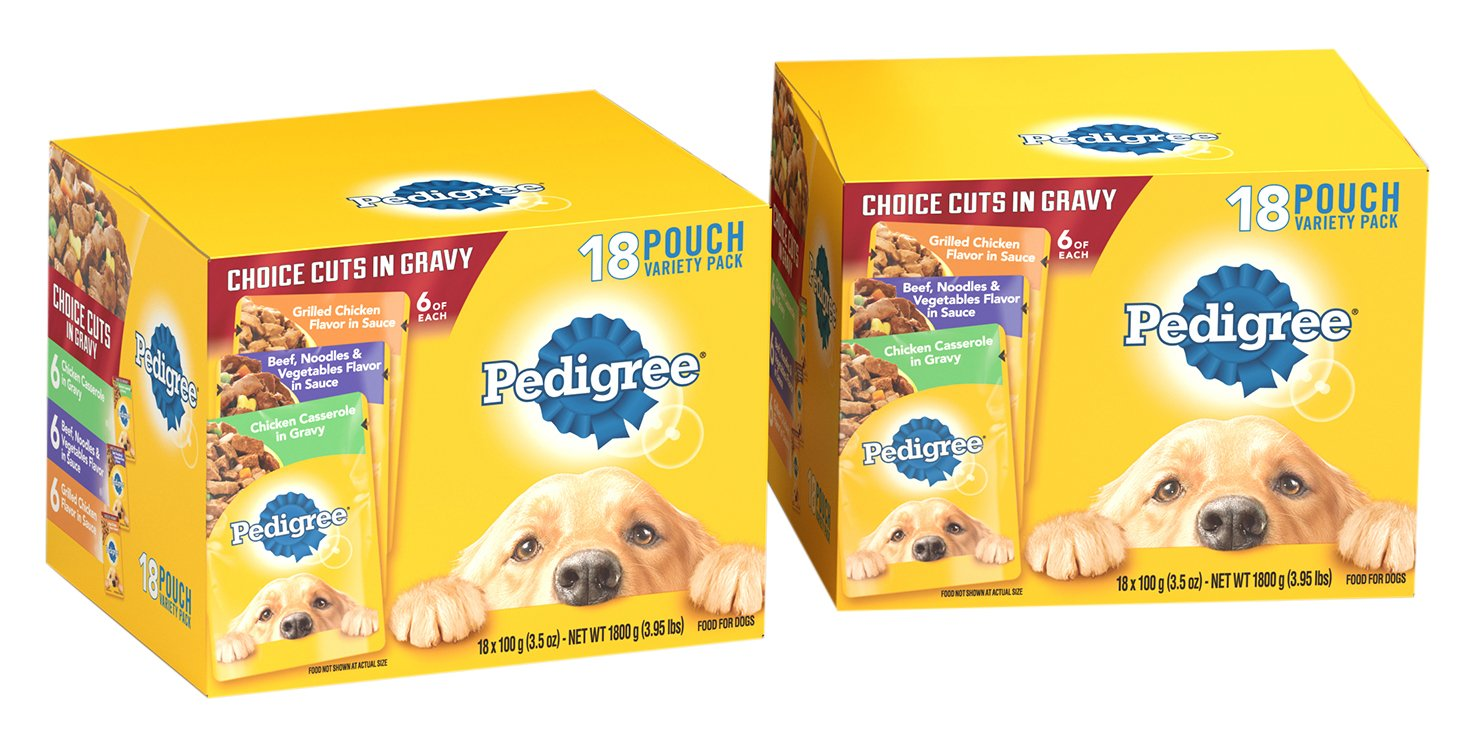 DISCONTINUED: PEDIGREE Choice Cuts Variety Pack Grilled Chicken, Beef & Chicken Casserole Dog Food 3.5 oz 36 Count