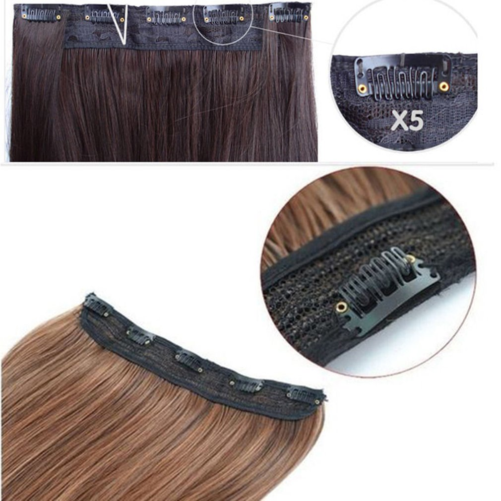FIRSTLIKE 26'' Inch Straight Black To Wine Red Clip In Hair Extensions Thick 3/4 Full Head Long One Piece 5 clips Soft Women Beauty Hairpiece by FIRSTLIKE (Image #4)