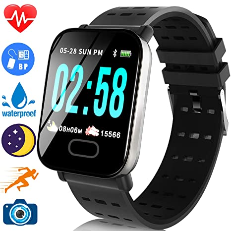 Amazon.com: TURNMEON Fitness Tracker 1.44 IPS Screen ...