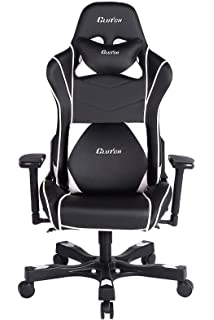 Clutch Chairz Crank Series Delta Black/White Gaming Chair (Black/White)