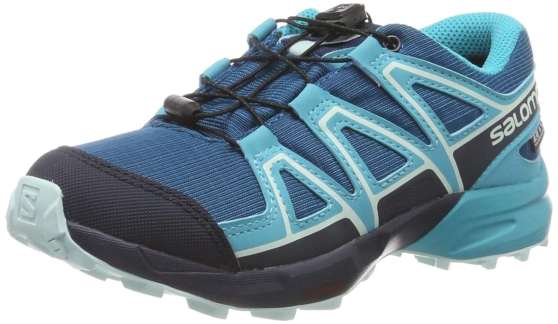 Bleu Clair Bleu Marine SALOMON Speedcross CSWP J, Chaussures de Course sur Sentier Mixte Enfant 33 EU