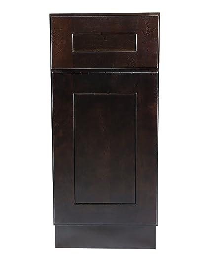 Merveilleux Design House 561902 Brookings 9 Inch Base Cabinet, Espresso Shaker