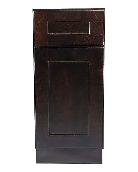 Design House 561902 Brookings 9 Inch Base Cabinet, Espresso Shaker