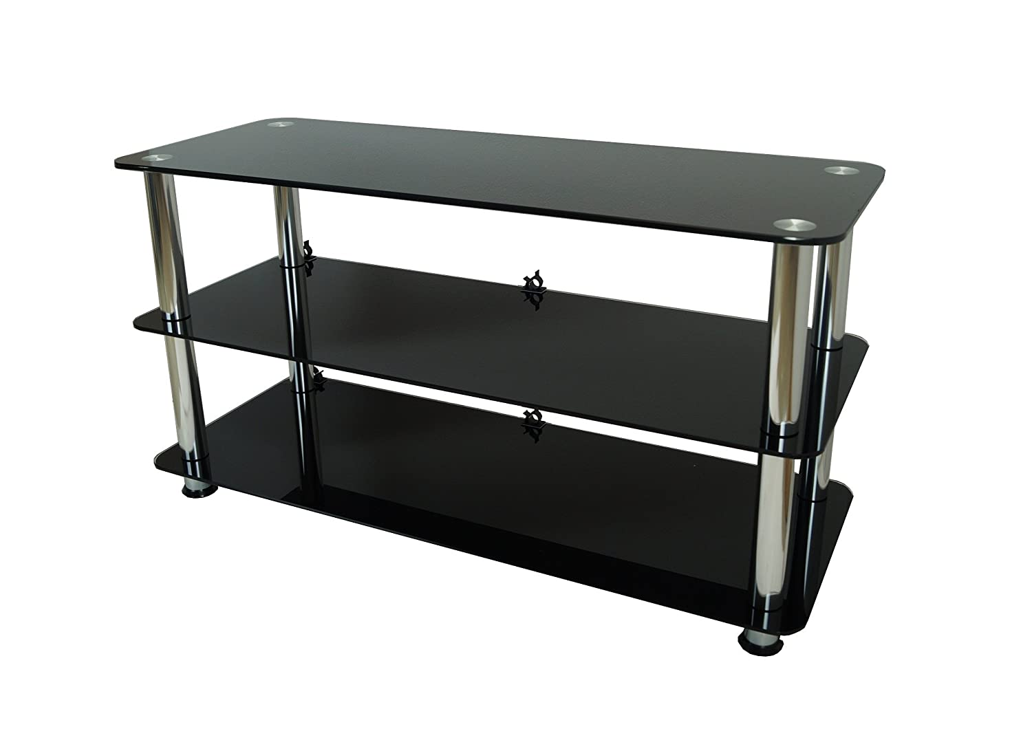 Mountright Black Glass TV Stand For Most LED LCD & Plasma Television (For TV's: 41 up to 55 Inch) UMS2