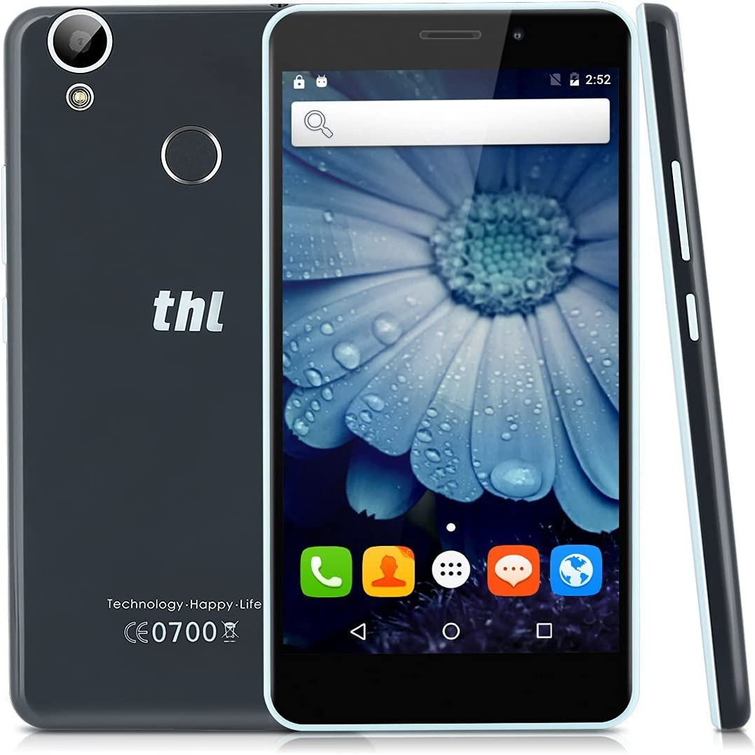THL T9 Pro - 4G/3G/2G Smartphone Android 6.0 Pantalla 5.5 IPS, MT6737 64bit 1.3GHz Quad-Core, 2G Ram, 16G ROM, Doble sim Tarjetas y Doble Cameras, 360°Huella Digital (Negro): Amazon.es: Electrónica