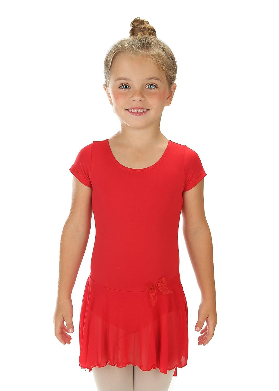 8ef3e838e Amazon.com  Elowel Kids Girls  Ruffle Short Sleeve Skirted Leotard ...