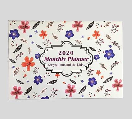 Planificador de citas del calendario familiar mensual de 2020 un mes para ver por Arpan (Familia Púrpura)