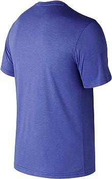 New Balance MC Heather Tec Camiseta/Polo, Hombre, TM Royal, L ...